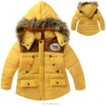 一口价SZX03530黄加厚外套