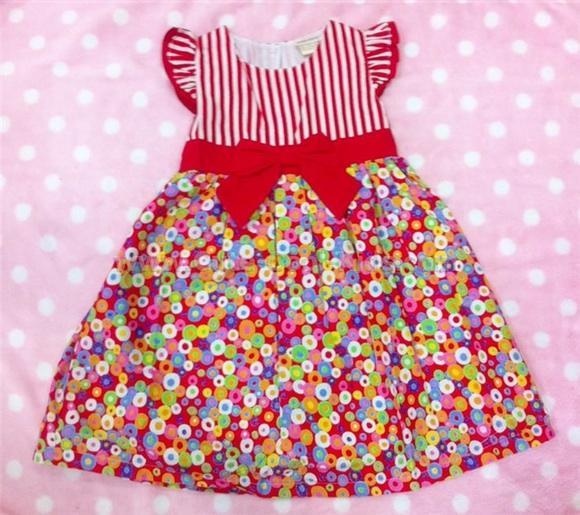 เสื้อผ้าเด็ก ชุดกระโปรงเด็กหญิง ขนาด 4T* 5T* [Dress-1119]