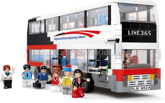 ของเล่นเด็กพร้อมส่ง - ตัวต่อขนาดเท่า LEGO ชุด Bus กล่องละ 741 ชิ้น