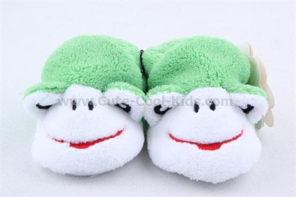 รองเท้าเด็กเล็ก สีเขียวลายกบ 0-6 M