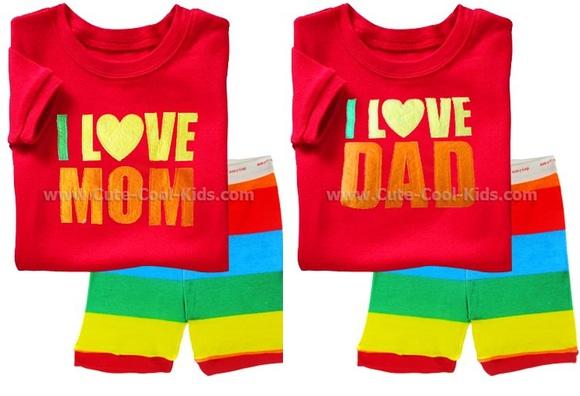 ชุดนอนเด็ก I love Mom & Dad