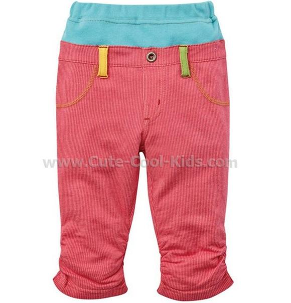 เสื้อผ้าเด็ก กางเกงขายาวแบบ Nissen สีชมพู 80 90 110 120*