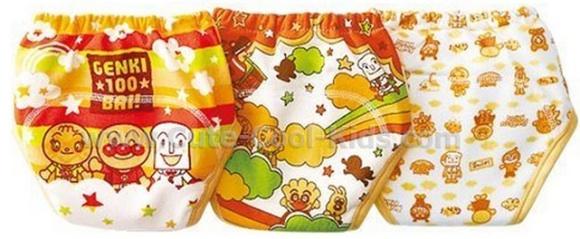กางเกงซับฉี่ Anpanman แพ็ค 3 ตัว สีเหลือง 80