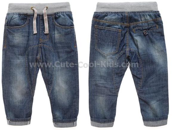 กางเกงยีนส์เด็กขายาวเอวยางยืด 1XL 2XL 3XL 4XL 5XL