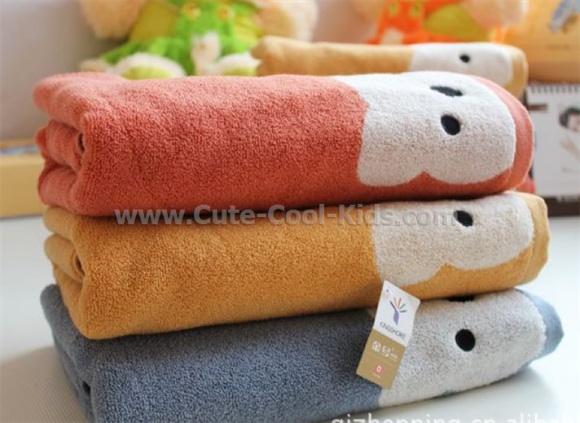 ผ้าขนหนู Cotton 65 x 130cm ฟ้าเทา