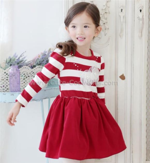 ชุดเสื้อ+กระโปรงเด็กแฟชั่นเด็กเกาหลี