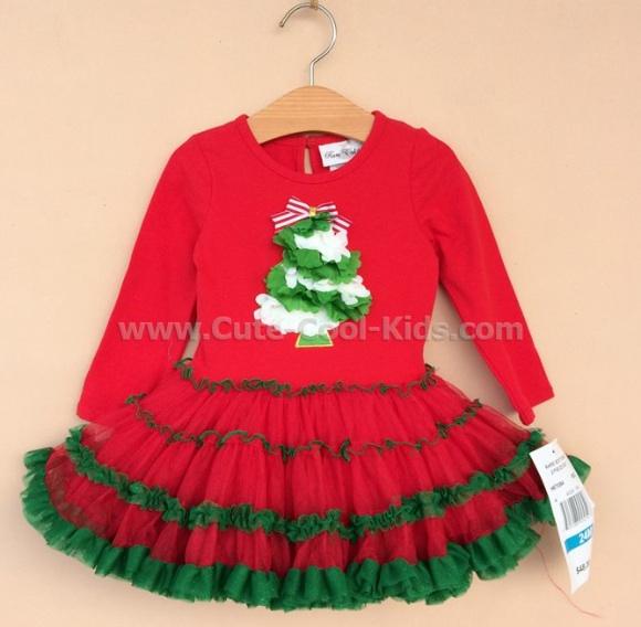 เสื้อผ้าเด็ก ชุดกระโปรงเด็กหญิง ลาย Christmas 3-6 M - 6-9 M