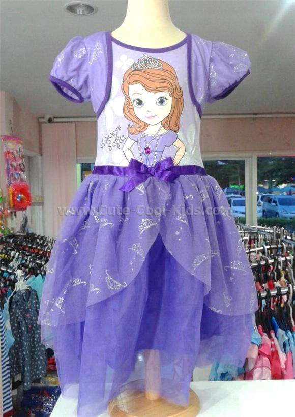 ชุดกระโปรงเจ้าหญิงโซเฟีย สีม่วง