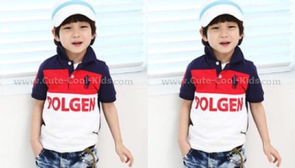 เสื้อคอโปโลเด็กแฟชั่นเกาหลี - 100