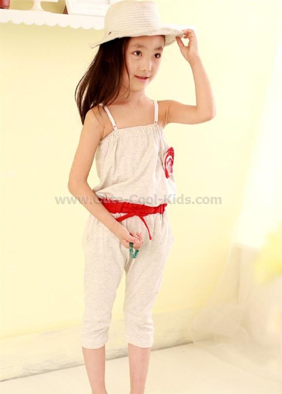 ชุดเด็ก เสื้อ+กางเกงเด็กแฟชั่นเกาหลี (สีเทา) 100 110 130