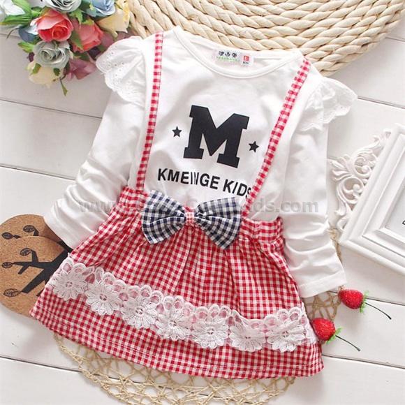 เสื้อผ้าเด็ก ชุดกระโปรงเด็ก S M L-580