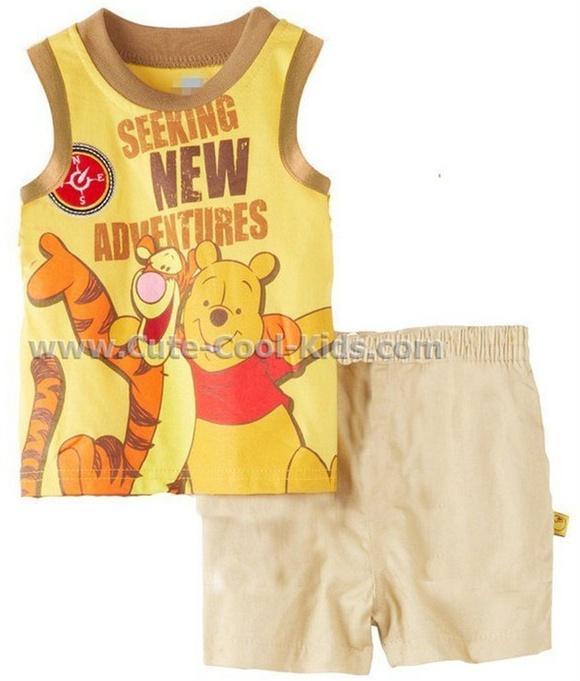 ชุดเสื้อแขนสั้นเด็ก +กางเกง หมี
