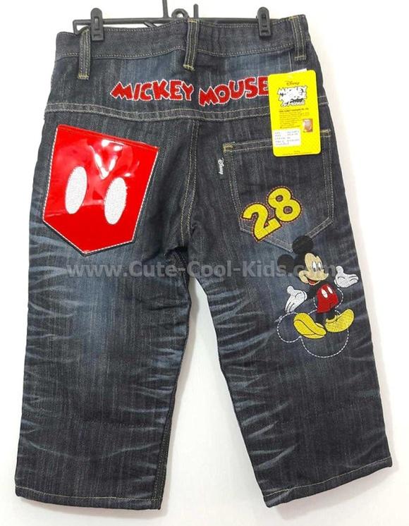 กางเกงยีนส์เด็ก Mickey ขนาด 4-* 6-* 8-* 10-* 12-* 14-*