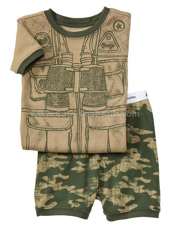 ชุดนอน Baby Gap - ลายพรางทหาร 2 ปี