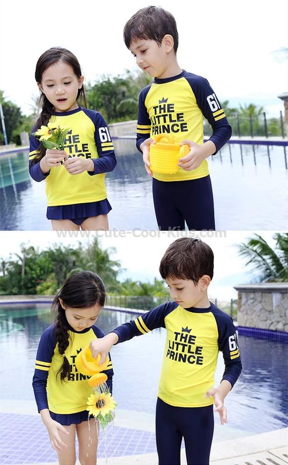 ชุดว่ายน้ำเด็กหญิง แฟชั่นเกาหลี (ไม่มีหมวก) ขนาด S* M* XXL*