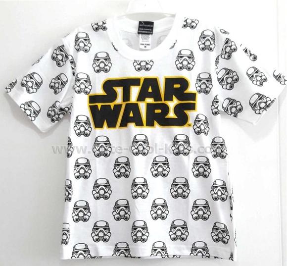 เสื้อยืดแขนสั้นเด็กชาย Star wars S(2)* M(1)* L(2) * XL(2)*