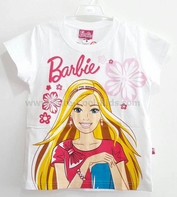 เสื้อยืดแขนสั้นเด็กหญิงบาร์บี้ S(3*) M(3*) L(3*) XL(3*)
