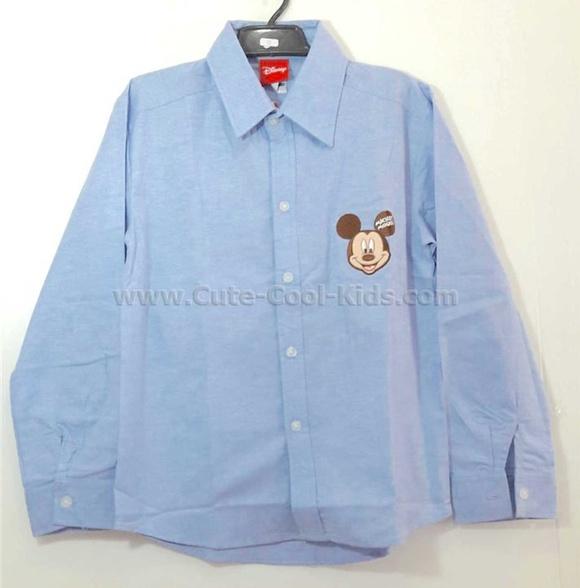 เสื้อเชิ๊ตเด็กชาย Mickey ขนาด S* M* L * XL*