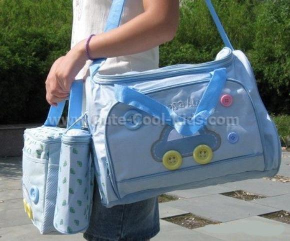 กระเป๋าสัมภาระ ลูกน้อย เซต 3 ใบ สีฟ้า