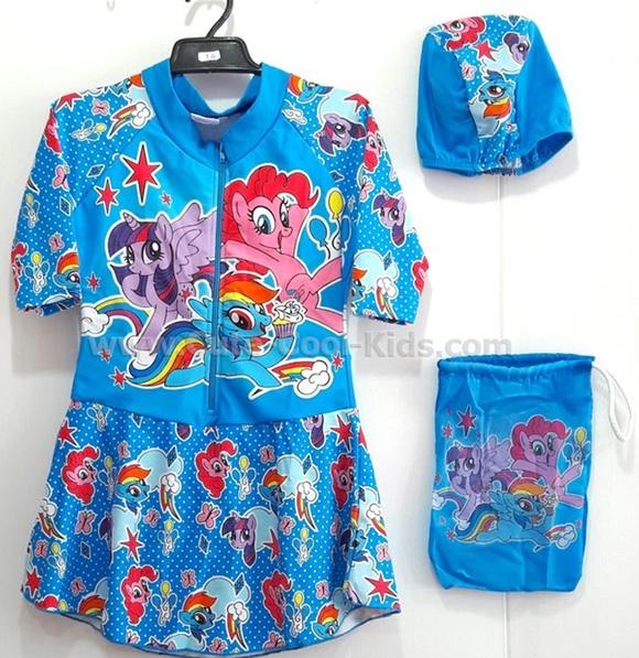 ชุดว่ายน้ำเด็กแฟชั่นการ์ตูน Pony XS S M L XL XXL
