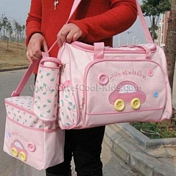 กระเป๋าสัมภาระ ลูกน้อย เซต 3 ใบ สีชมพู 6 เซต