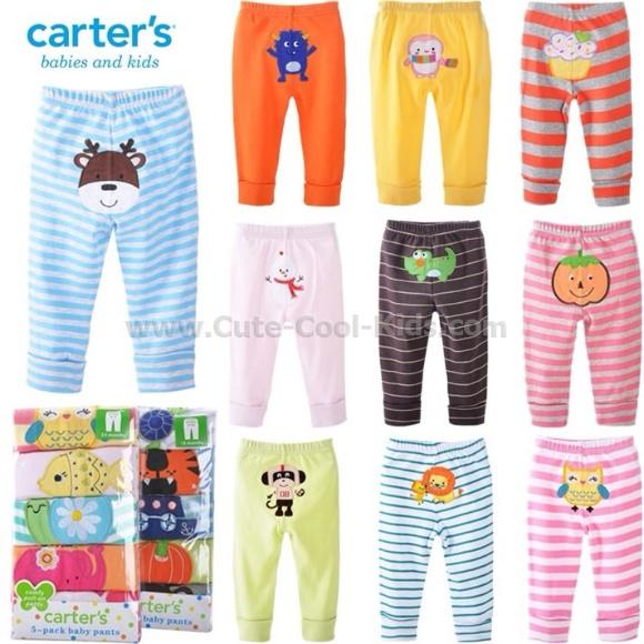 กางเกงเด็กอ่อน Carter's. set 5 ตัว อายุ 3-18 เดือน