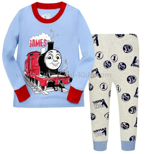 ชุดนอนเด็กแนว Baby G รถไฟ 2Y 3Y 6Y