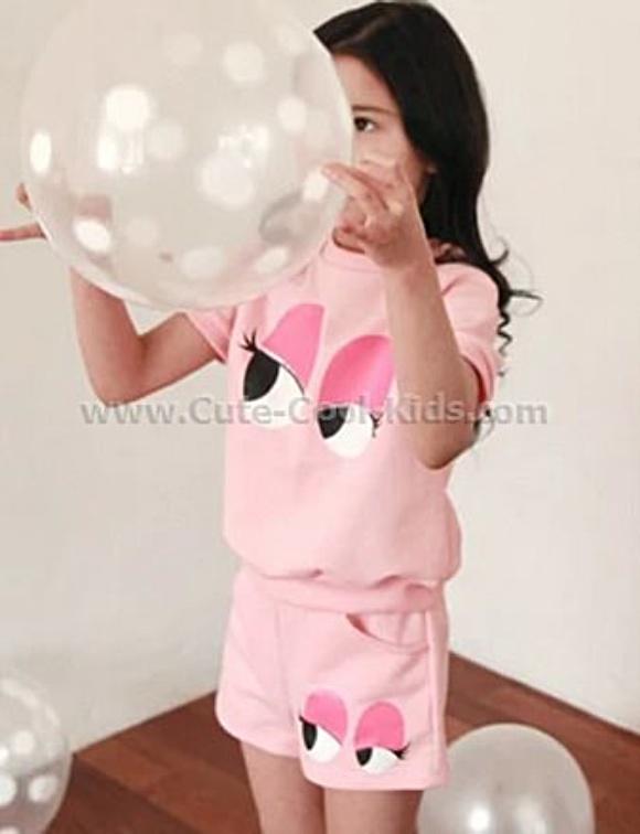 ชุดเด็กหญิง (รูปตา เป็นสีม่วง) 100 110* 130*