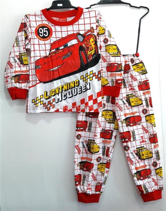 ชุดนอนเด็ก ลาย Cars S* M* L* XL*