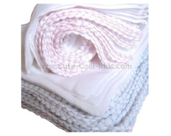 ผ้าอ้อมผ้าฝ้าย สีชมพู