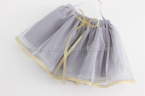 กระโปรงผ้าชีฟองฟูฟ่อง สีเทา 7
